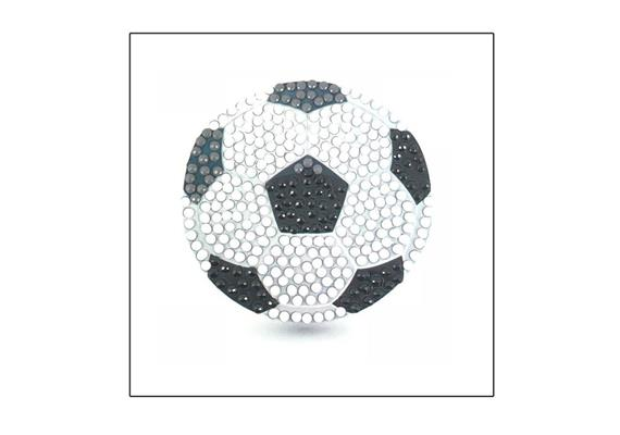 Football, 9x9cm Crystal Art Motif