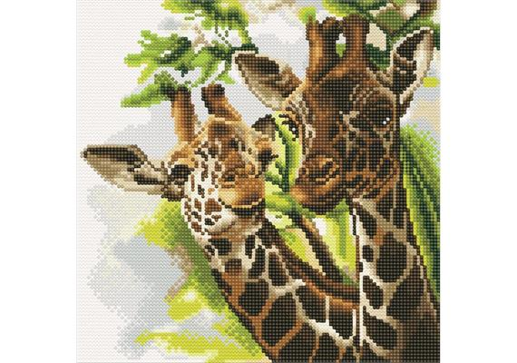 Friendly Giraffes, 30x30cm Crystal Art Kit