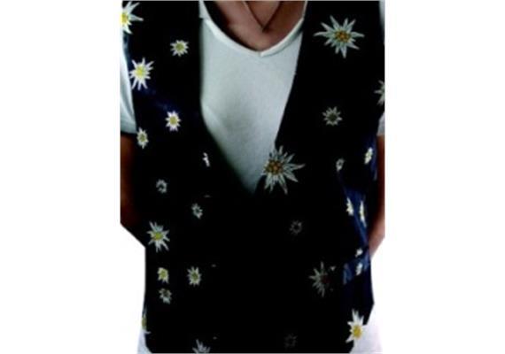 """Gilets Edelweiss, Hintergrund schwarz; Grösse """"M"""""""