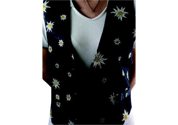 """Gilets Edelweiss, Hintergrund schwarz; Grösse """"X"""""""