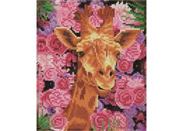 Giraffe & Flowers, 21x25cm Picture Frame Crystal A