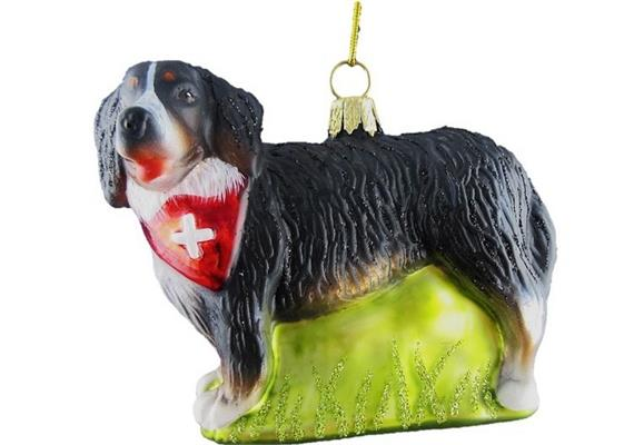 Glas Ornament Bernersennenhund