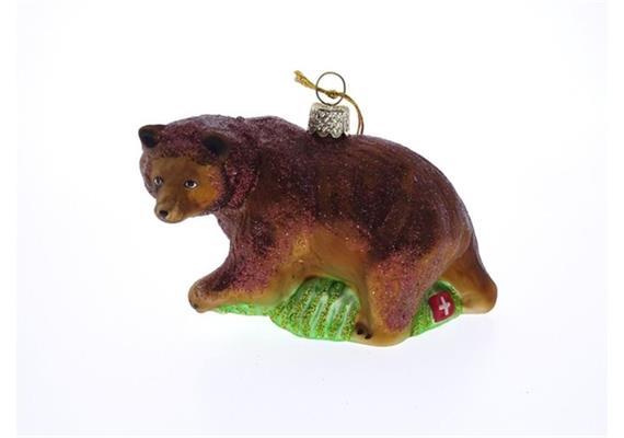 Glas Ornament Braunbär