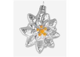 Glas Ornament Edelweiss
