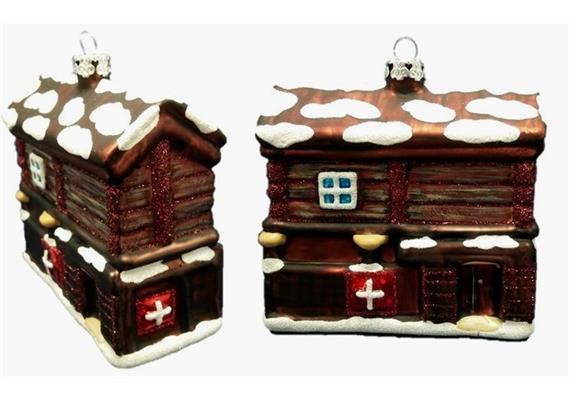 Glas Ornament Haus Zermatt