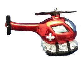 Glas Ornament Helikopter