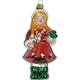 Glas Ornament Mädchen, 10 x 5cm