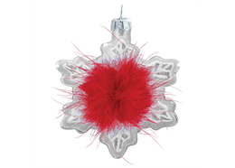 Glas Ornament Schneeflocke, 7 cm