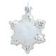 Glas Ornament Schneeflocke, weiss, 7cm