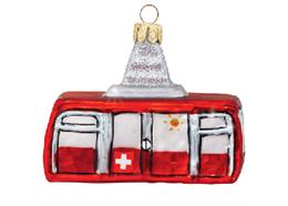 Glas Ornament Schweizer Luftseilbahn, 7.5 x 5.5cm