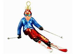 Glas Ornament Skifahrer