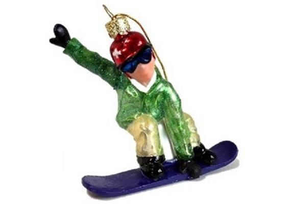 Glas Ornament Snowboarder