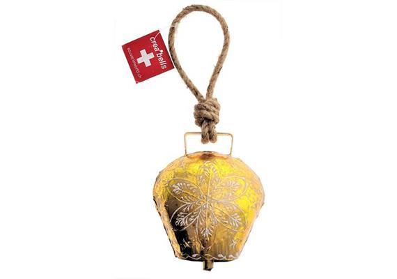 Glocke gross gold, ca. H 11cm, L 10cm, B 7cm