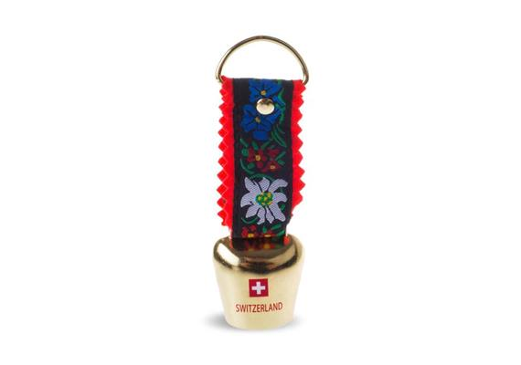 Glocke Kupfer Band Alpenblumen- Switzerland