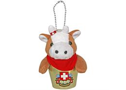 Glocken HappyBells Louisa, die Kuh braun-weiss, Grösse M Nachfüllset, Grösse 9-10cm