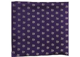 Halstuch Edelweiss all over, 110 x 110 cm, dunkelblau, 100% Seide