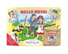Heidi Malbuch A4 inkl. Stifte