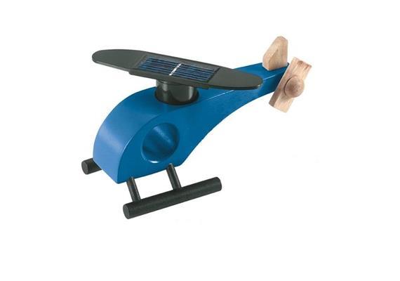 Helikopter Holz Blau & Rotor 6531