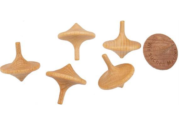Holz Kreisel - Buche geölt 3.5cm