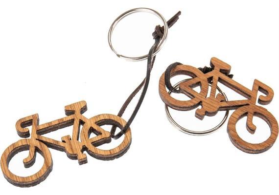 Holz Schlüsselanhänger aus Eiche geölt 5 mm: Fahrrad