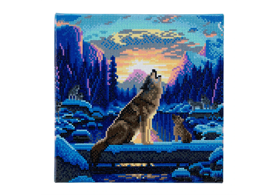 Howling Wolves, 30x30cm Crystal Art Kit