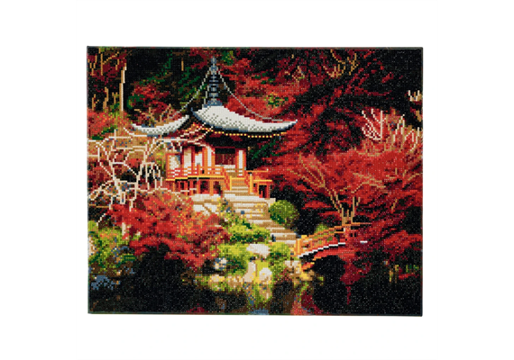 Japanese Temple, 40x50cm Crystal Art Kit