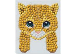 Kätzchen, Sticker 9x9cm Crystal Art Motiv