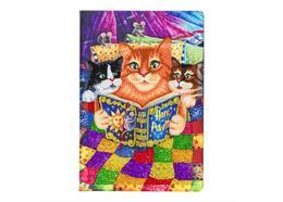 Kitten Bedtime, Crystal Art Notebook
