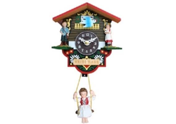Kleine Uhr (Chaletmodell) mit Heidi Figuren