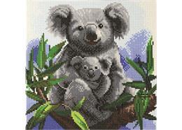 Knuddelige Koalas, 30x30cm Crystal Art Kit