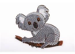 Koala Bär, Sticker 9x9cm Crystal Art Motiv
