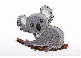 Koala Bear, 9x9cm Crystal Art Motif