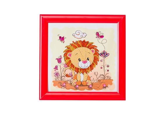 Lion, 16x16cm Frameable Crystal Art