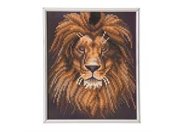 Lion, 21x25cm Picture Frame Crystal Art