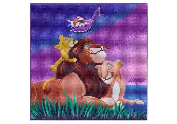 Lion King Family, 30x30cm Crystal Art Kit