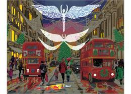 Londoner Weihnachtslichter, Bild 40x50cm LED Crystal Art Kit