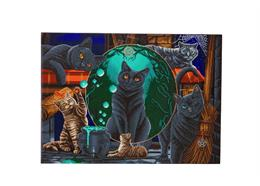 Magical Cats, 90x65cm Crystal Art Kit