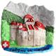 """Magnet Château de Chillon mit Schrift """"Château de Chillon"""" in schwarz"""