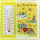 Magnet CL Switzerland, Acryl, mit Schwimmelement Herz und Thermometer, 60 x 60 mm