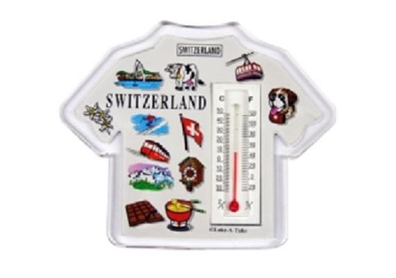 Magnet CL T-Shirt Magnet, Acryl, mit Thermometer Expression