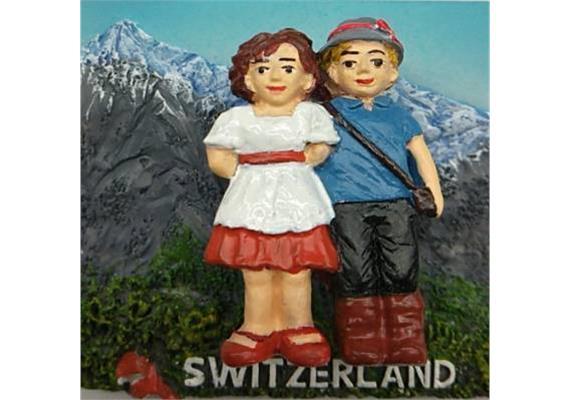 Magnet Heidi und Peter - mit Springfeder