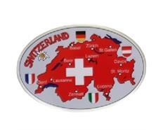 Magnet Schweiz mit Städtenamen und Flaggen