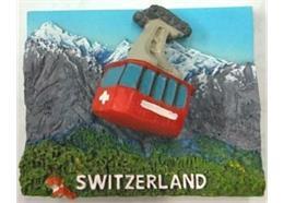 Magnet Seilbahn 3D, mit Springfeder 5.5cm x 4.5cm