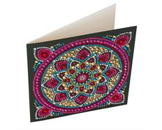 Mandala, 18x18cm Crystal Art Card
