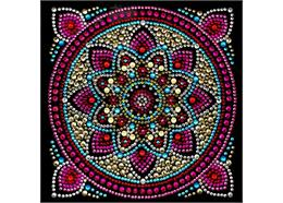 Mandala, Karte 18x18cm Crystal Art