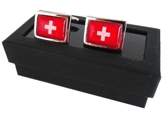 Manschettenknöpfe mit CH-Kreuz