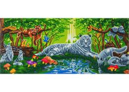 Meeting in the Forest, 40x90cm Crystal Art