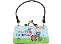MiniBags, Happy Birthday, Clown auf Fahrrad