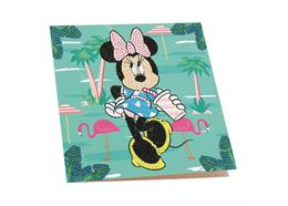 Minnie on Holiday, 18x18cm Crystal Art Card