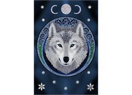 Mond-Wolf, Crystal Art Notizbuch ANNE STOKES